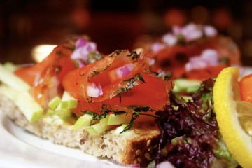 Gravlox Chrostini Sandwich