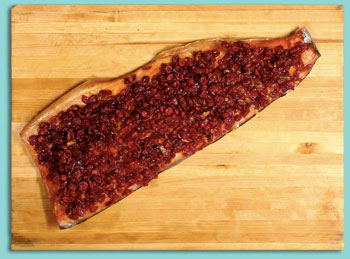 Smoked Salmon with Cranberry