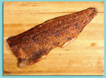 Smoked Salmon with Black Pepper